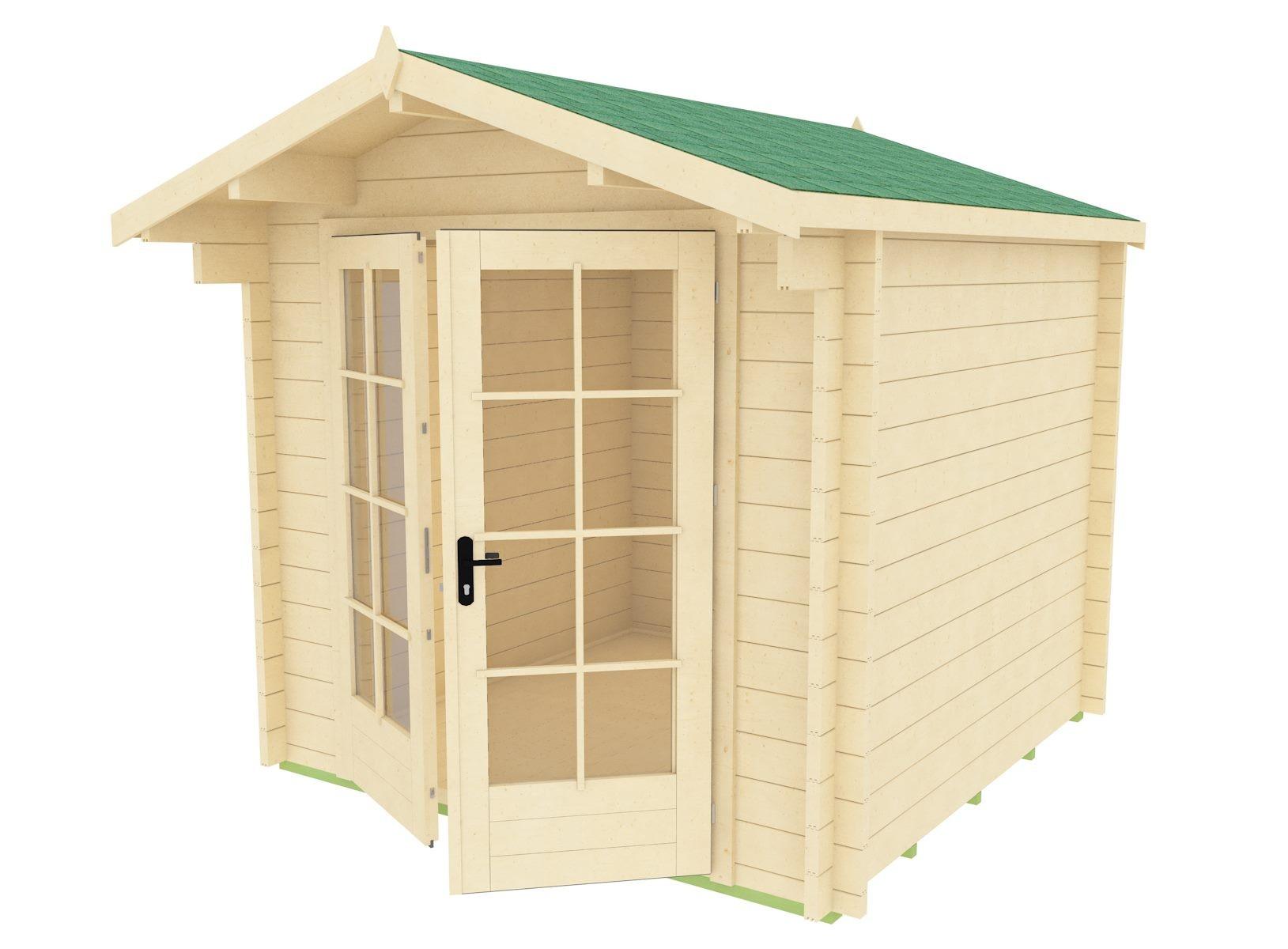 Mod napoli casetta in legno 6 mq mama servizi s r l - Superficie calpestabile ...